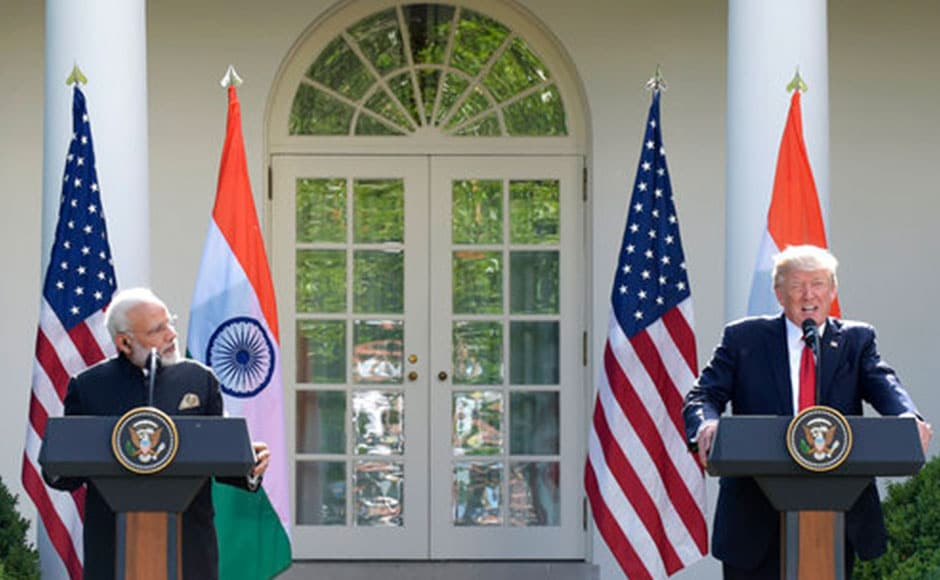 During brief Oval Office remarks, Trump heaped praise on Modi as a 'great prime minister' who had brought economic growth to India. AP