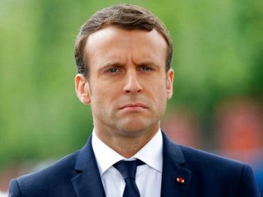 File image of Emmanuel Macron. AP