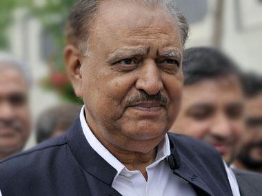 File image of Pakistan president Mamnoon Hussain. AP