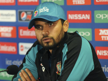 Bangladesh captain Mashrafe Mortaza addresses the press AP