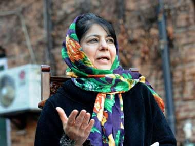 A file image of Mehbooba Mufti. AFP