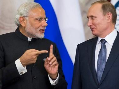 Prime Minister Narendra Modi (left) with Russian president Vladimir Putin. AP
