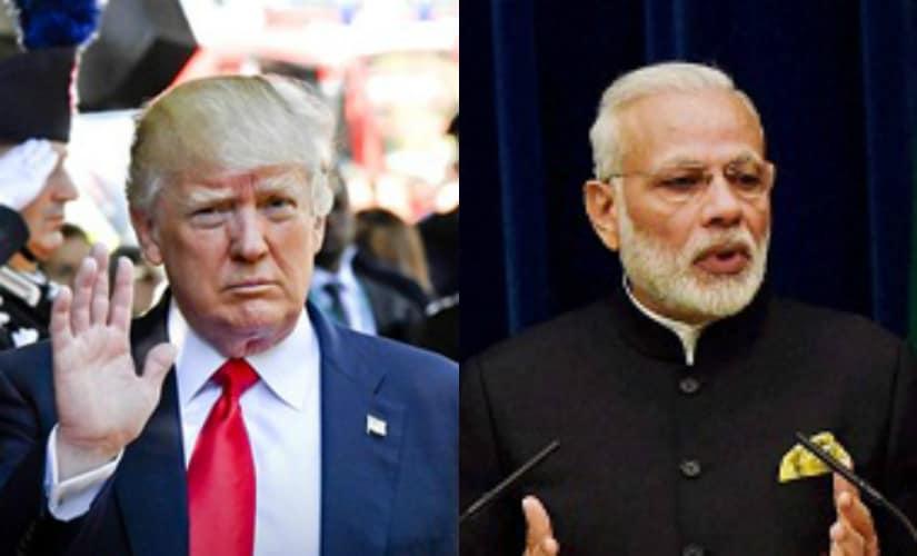 File images of Narendra Modi and Donald Trump. AFP and PTI