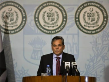 File image of Pakistan Foreign office Nafees Zakaria. AP