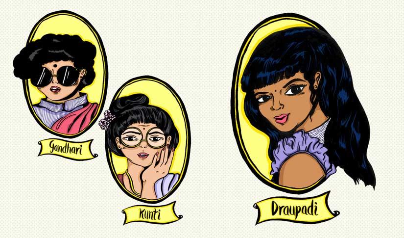 Oh Nari, So Sanskari: A modern take on Indian feminism with Draupadi, Kunti and Gandhari