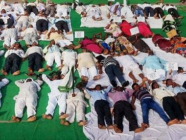 International Yoga Day 2017: Congress workers, protesting farmers perform shavasana in Madhya Pradesh