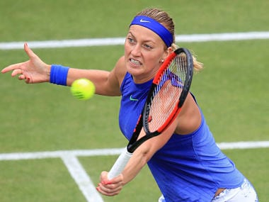 Petra Kvitova during her match with Kristina Mladenovic. AP