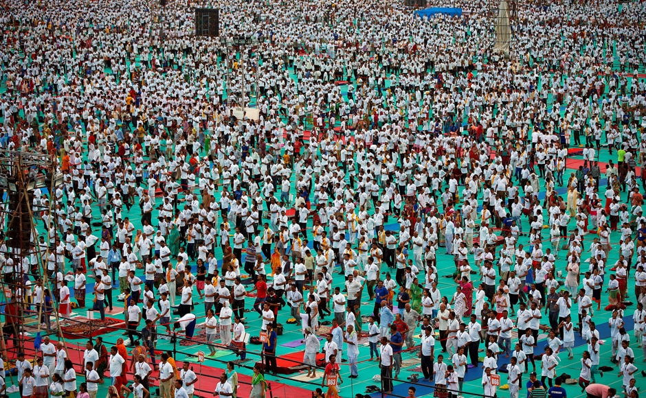 Prime Minister Modi and his cabinet inaugurated several yoga camps across the country. Reuters