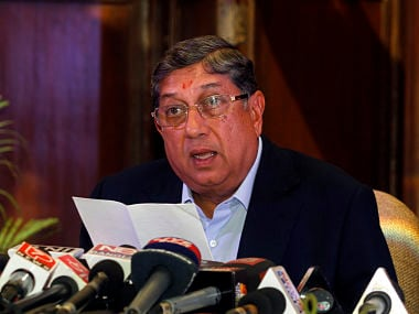 File photo of N Srinivasan. Reuters