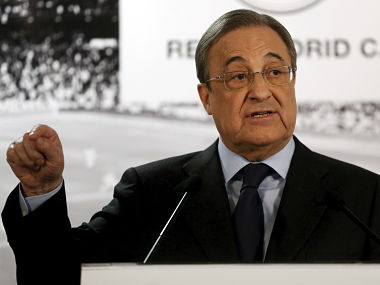 File photo of Real Madrid's President Florentino Perez. Reuters