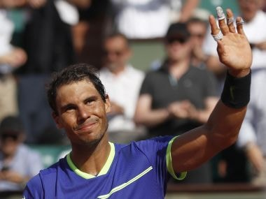 Spain's Rafael Nadal at the French Open . AP