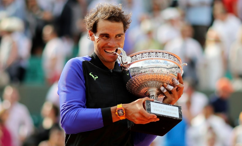 Rafael Nadal won a record 10th title at the French Open for his 15th Grand Slam title. AP