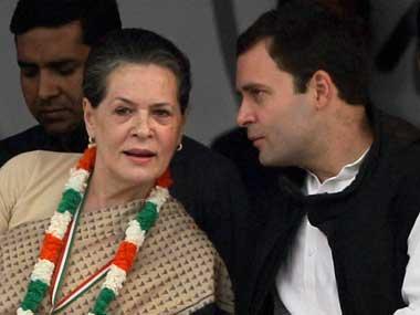 File image of Sonia Gandhi and Rahul Gandhi. PTI