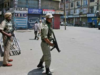 Kashmir is witnessing complete shutdown post encounter of Shabzar Bhatt by security forces. PTI