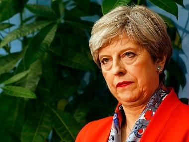 File image of Britain's prime minister Theresa May. AP
