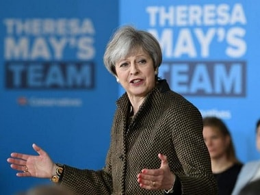 British prime minister Theresa May. Reuters