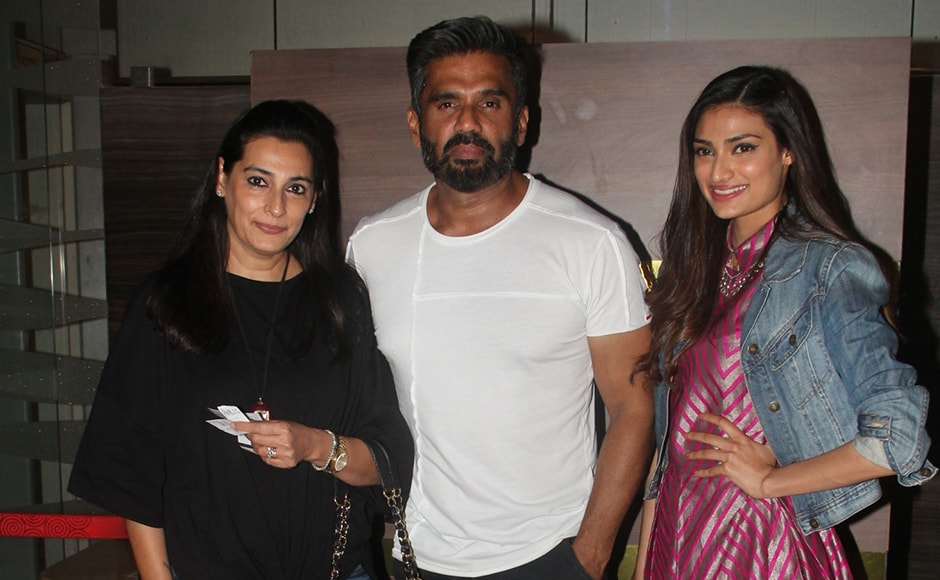 Suniel Shetty with his wife Mana and daughter Athiya. Sachin Gokhale/Firstpost