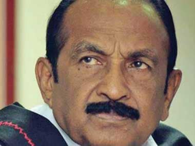 Disturbed over the Cauvery water dispute, MDMK leader Vaikos kin attempts self-immolation