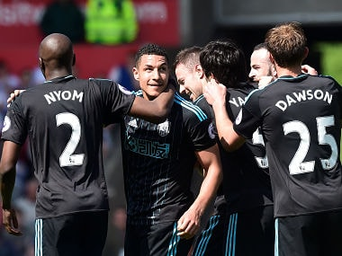 File image of West Bromwich Albion's during a game. Reuters