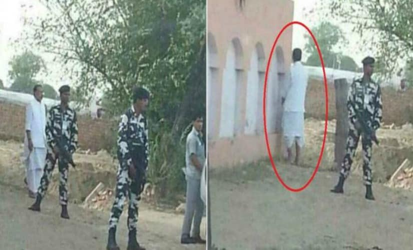 Agriculture minister Radha Mohan Singh caught urinating in public, image goes viral on Twitter