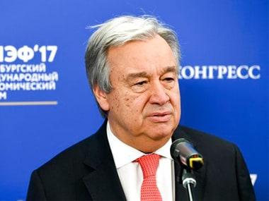 United Nations Secretary General Antonio Gueterres. AP
