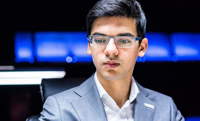 """""""I don't think so!"""" Anish Giri came out with aggressive intentions! Image courtesy: Lennart Ootes"""