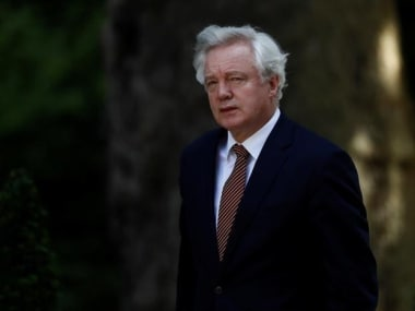 File image of UK's Brexit minister David Davis. Reuters