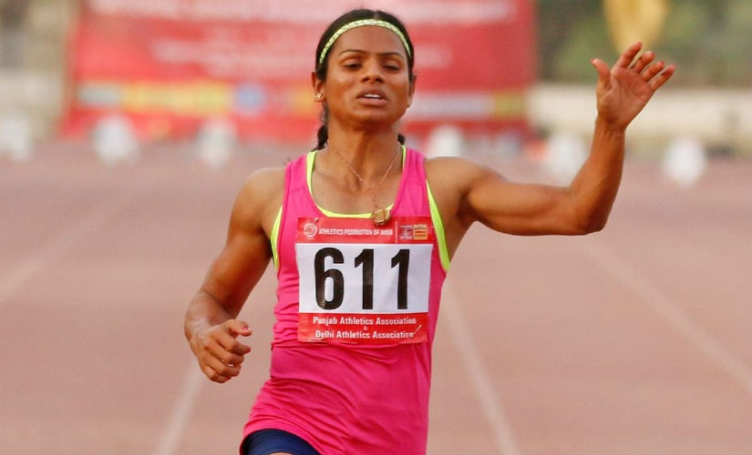 Dutee Chand at the Federation Cup. Image courtesy: Sojan Philips