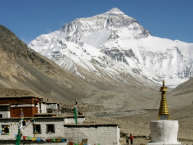 Mount Everest is seen from the Tibetan side. Reuters