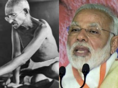 Mohandas Karamchand Gandhi and Narendra Modi. Agencies
