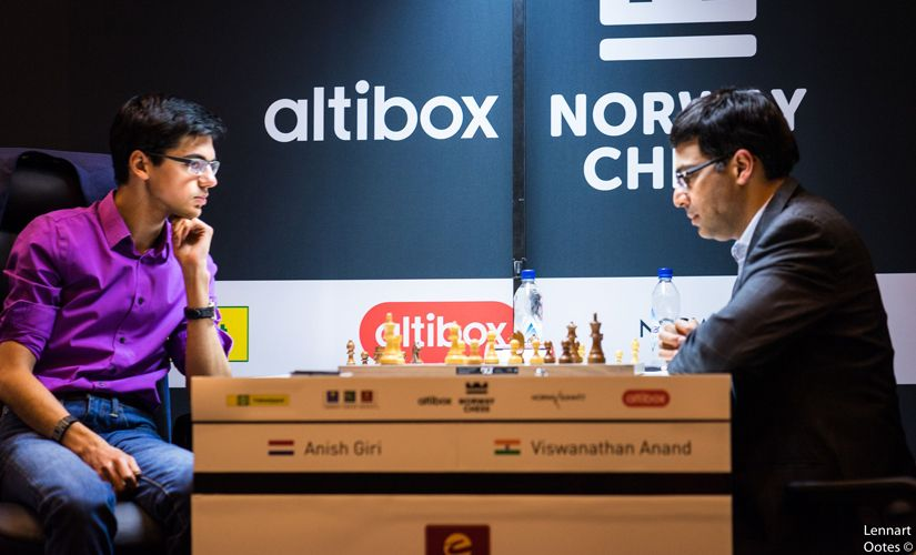 Anish Giri had taken off his coat. A clear indication that he was out there for the kill. Image courtesy: Lennart Ootes