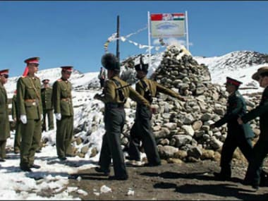 File photo of Indian and Chinese troops. PTI