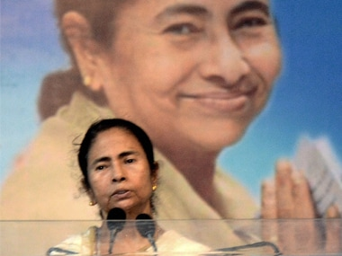 West Bengal Chief Minister Mamata Banerjee addresses a function at Tarakeswar in Hooghly district on Thursday. PTI