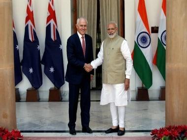 File image of Prime Minister Narendra Modi and his Australian counterpart Malcolm Turnbull. Reuters