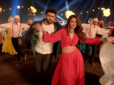Arjun Kapoor and Ileana D'Cruz in a still from the song. Image from Twitter.