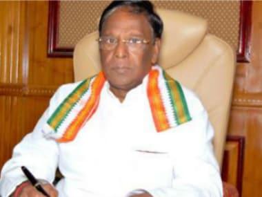 Chief Minister V Narayanswamy. News18