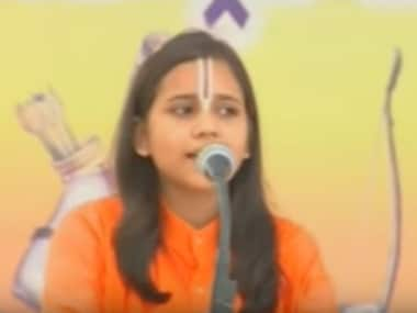 Sadhvi Saraswati. Screengrab from Youtube