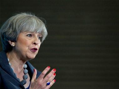 File image of Britain prime minister Theresa May. AP