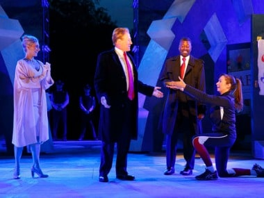 Delta Air Lines, Bank of America pull sponsorship of play over Donald Trump lookalike killing scene