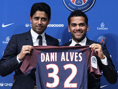 Ligue 1: Dani Alves joins Paris Saint-Germain on a two-year deal, to be reportedly paid €14 million a season