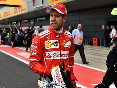 Ferrari's Sebastian Vettel during the qualifying session of British Grand Prix, AFP