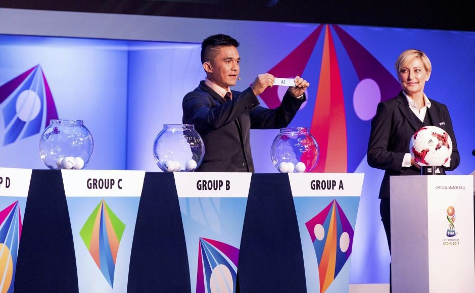 National football team captain Sunil Chettri during the official draw. PTI