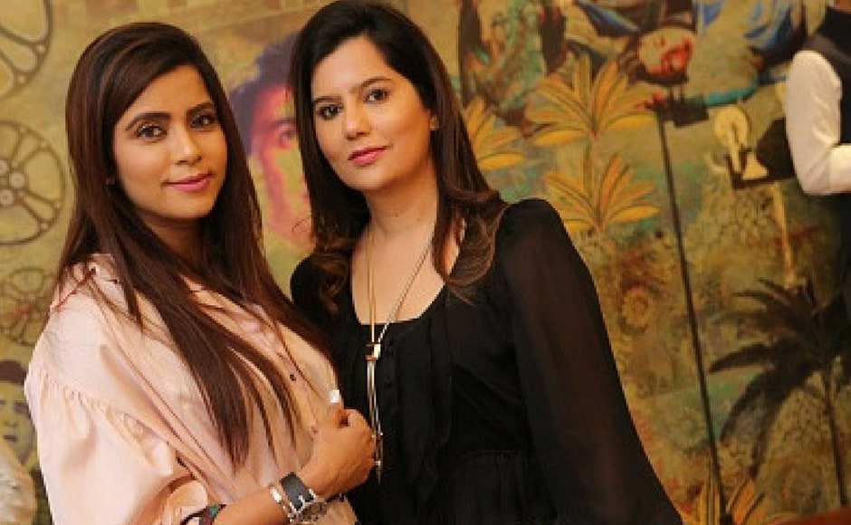 Sikha Begwani and Shweta Sud during the private screening of the movie 'Mom' at politician Amar Singh's Chattarpur home in New Delhi, India. Mom is an Indian thriller film directed by Ravi Udyawar and produced by Boney Kapoor, Sunil Manchanda, Mukesh Talreja, Naresh Agarwal and Gautam Jain. (Getty Images)