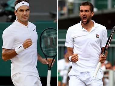 Roger Federer leads the head-to-head against Marin Cilic 6-1. AP