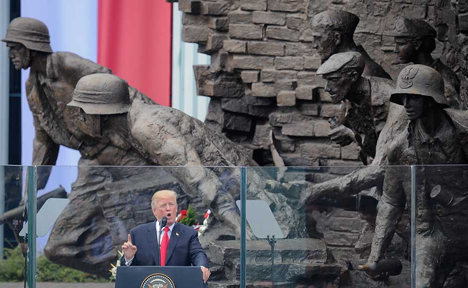 Speaking in a country alarmed by Moscow's increasing military assertiveness, Trump — just a day before he meets Russian president Vladimir Putin at the G20 Summit — offered rare criticism of Russia's behaviour. AP