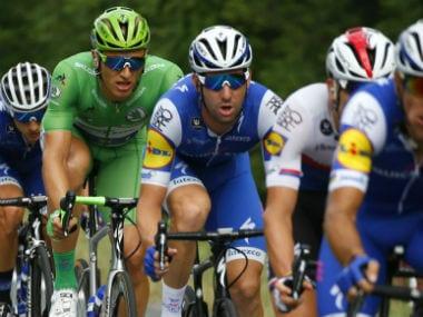 Action from Tour de France 2017. AFP
