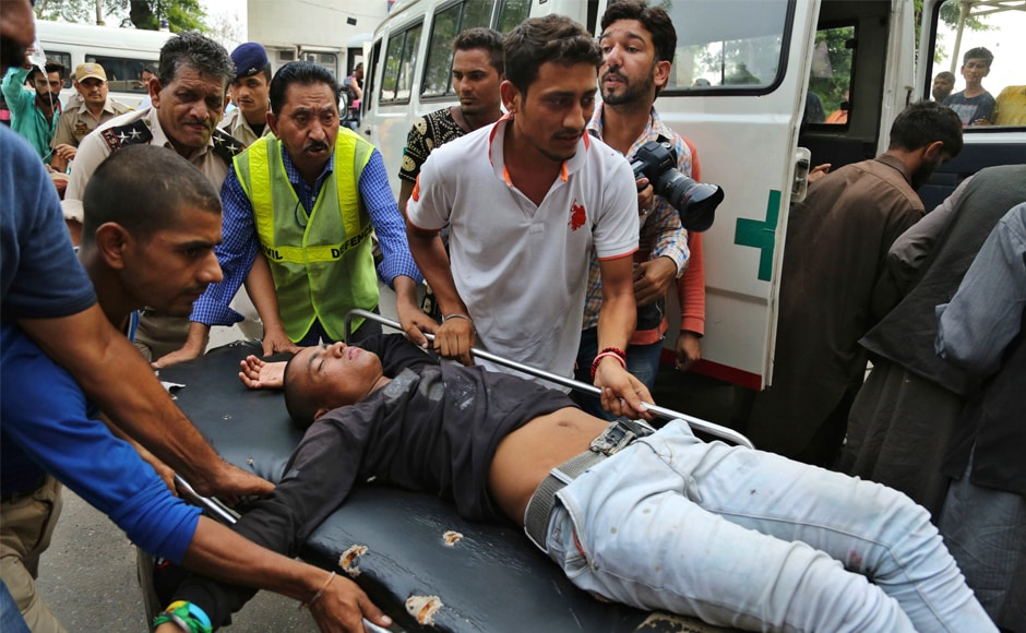 Pilgrims injured in the bus accident are being brought for treatment at a hospital in Jammu. The government has set up a helpline for inquiry about the Amarnath pilgrims travelling in the bus that met with the accident in Ramban. The helpline numbers are - 091-2560401, and 0191-2542000. AP