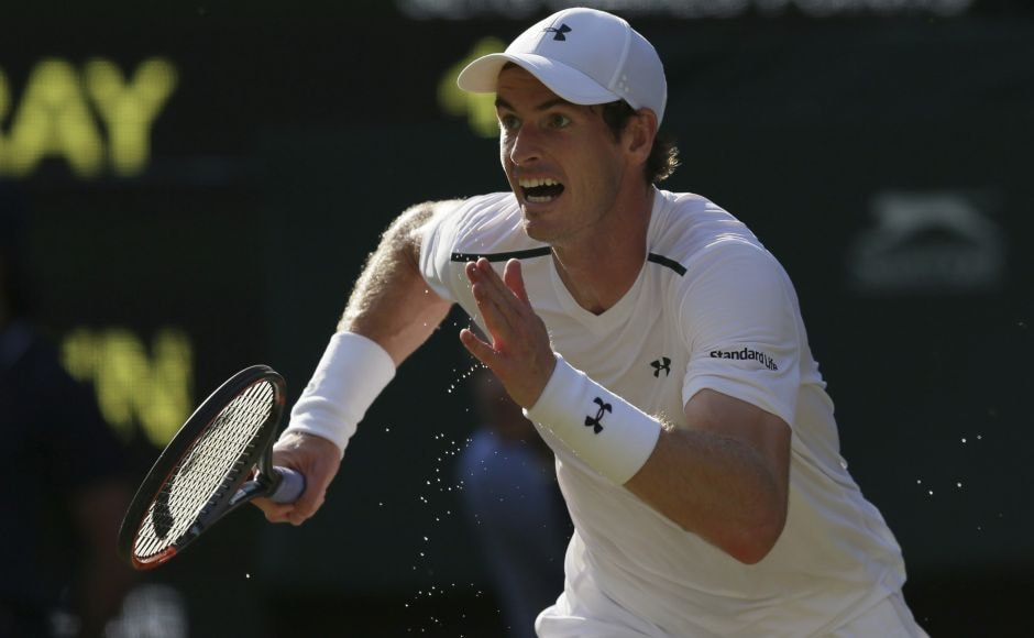 Defending champion Andy Murray dismissed GermanDustin Brown 6-3, 6-2, 6-2 in Round 2 on Day 3 of Wimbledon. AP