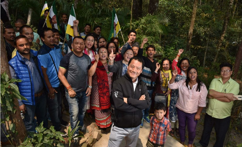 Bimal Gurang is spearheading the Gorkhaland movement. Getty images