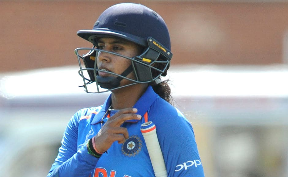 India got off to an extremely cautious start after losing both openers cheaply. Indian captain Mithali Raj and Harmanpreet Kaur steadied the innings but the skipper was bowled by Australia's Kristen Beams for 36. AP